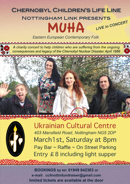 muha poster for CCLL gig